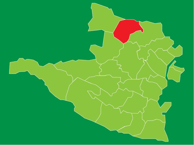 四日市市下野地区名所めぐりマップ