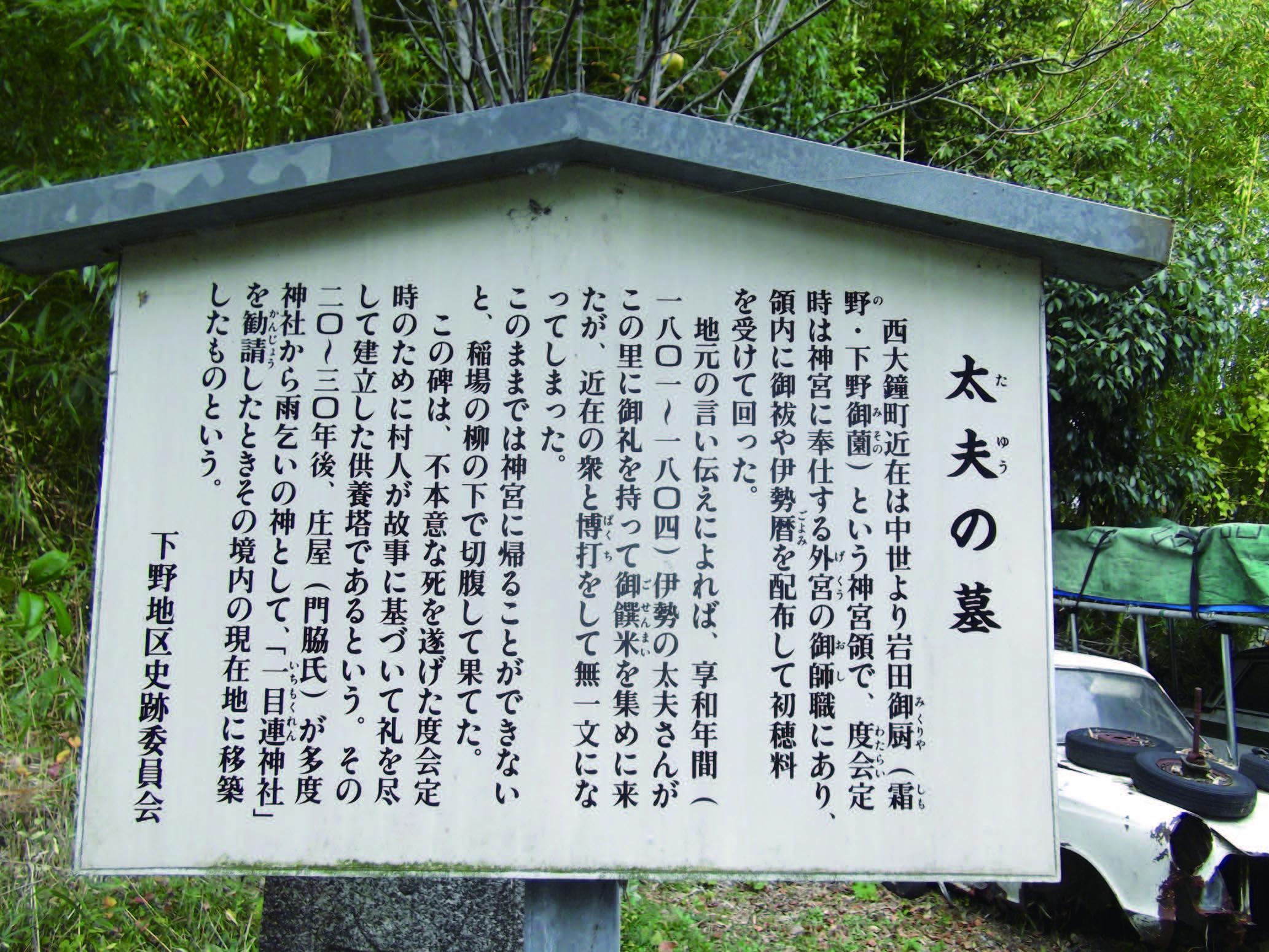 太夫の墓(西大鐘町)